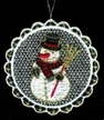 Lace Ball with Snowman Ornament by Stickservice Patrick Vogel in OT Hammerbrücke