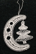 Lace Moon with Tree Ornament by Stickservice Patrick Vogel in OT Hammerbrücke