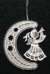 Lace Moon with Angel Ornament by Stickservice Patrick Vogel in OT Hammerbrücke