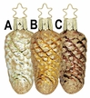 Fir Seeds, Pinecone Ornament by Inge Glas - $9.00 Each