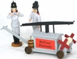 Firemen with Wagon - Set of 3
