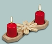 Flat Snowflake Candle Holder by Martina Rudolph