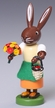 Flowers and Basket Rabbit Wooden Figurine by Thomas Preissler