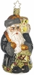 Forest Friends Santa Ornament by Inge Glas