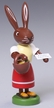 Frohe Ostern Rabbit Wooden Figurine by Thomas Preissler
