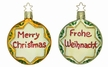 Frohe Weihnacht Ornament by Inge Glas