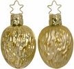 Frosted and Gilded Walnut Ornament by Inge Glas - $8.50 each