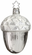 Frosted Future Silver Acorn Ornament by Inge Glas