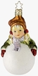 Frosty Inspiration, Girl on Snowball - Life Touch Ornament by Inge Glas