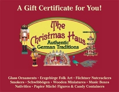 $250 Gift Certificate to The Christmas Haus