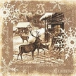 Vintage Deer Paper Luncheon Napkins by Made by Paper + Design GmbH