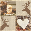 Natural Christmas Luncheon Size Paper Napkins by Made by Paper + Design GmbH