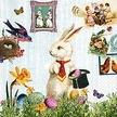 Magic Easter Rabbit Luncheon Size Paper Napkins by Made by Paper + Design GmbH