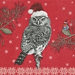 THE CHRISTMAS HAUS - Robin & Owl Luncheon Size Paper Napkins by Made by Paper + Design GmbH