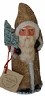Gold Beaded Santa Paper Mache Candy Container by Ino Schaller