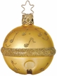 Gold Jingle Bell Ornament by Inge Glas