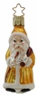 Golden Father Christmas Ornament by Inge Glas