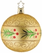 Golden Holly Ornament by Inge Glas