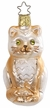 Green Eyes Only, Cat Ornament by Inge Glas