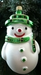 Green Plaid Snowman Ornament by Hausd�rfer Glas Manufaktur