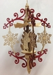 Hanging Red Boughs with Natural Snowflake, Santa, Angel & Sled Pyramid by Harald Kreissl in Marienberg