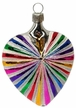 Heart with Stripes & Glitter Ornament by Hausdorfer Glas Manufaktur