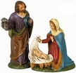 Holy Family, 14cm Scale,  Paper Mache Figurines by Marolin