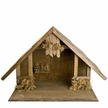 Handcrafted Wood Manger for use with 11cm - 13cm Paper Mache Nativity Figurines by Marolin