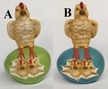 Chicken and Chicks Paper Mache Figurine by Marolin  $50 Each