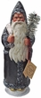 Santa, Metal Grey with Glitter Trim Paper Mache Candy Container by Ino Schaller
