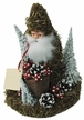 Santa with Moss Decor Paper Mache Candy Container by Ino Schaller