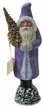 Santa, Lavender Coat Paper Mache Candy Container by Ino Schaller