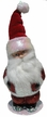 Santa, Red Glitter Coat with a Soft Cap Paper Mache Candy Container by Ino Schaller