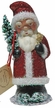 Santa in Red Glitter Coat Paper Mache Candy Container by Ino Schaller