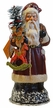 Santa in Old Red Coat with Rockinghorse Paper Mache Candy Container by Ino Schaller