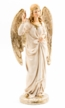 Proclaiming Angel, 12cm Scale, Paper Mache Figurine by Marolin