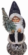 Santa in Black Coat with Chenille Trim Paper Mache Candy Container by Ino Schaller