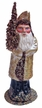 Champagne Santa Paper Mache Candy Container by Ino Schaller