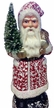 Red & White Sponged Santa Paper Mache Candy Container by Ino Schaller