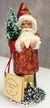 Copper Sponged Santa Paper Mache Candy Container by Ino Schaller