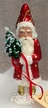 Petite Red Santa with Gold Dots & Boots Paper Mache Figurine by Ino Schaller