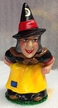 Witch in Black Paper Mache Candy Container by Ino Schaller