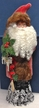 Red Beaded Coat Santa with Holly Paper Mache Candy Container by Ino Schaller