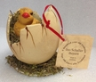 Chicken in Egg Paper Mache Candy Container by Ino Schaller