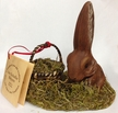 Bunny Sitting with Basket Paper Mache Candy Container by Ino Schaller