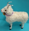 Standing Sheep with Horns Paper Mache Figurine by Ino Schaller