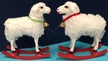 Sheep on Rocker Paper Mache Figurine by Ino Schaller - $50 Each