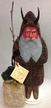 Beaded Krampus with Bag of Coal Paper Mache Candy Container by Ino Schaller
