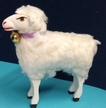 Standing Sheep Paper Mache Figurine by Ino Schaller
