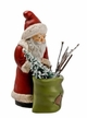 Santa with Sack Paper Mache Figurine by Marolin
